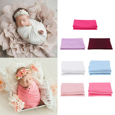 £7.63 • Buy Stretch Newborn Photography Wrap Blanket For Photo Shooting Baby Photo Props