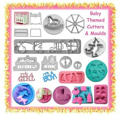 AU5.99 • Buy Baby Fondant Cutters & Silicone Moulds Mold -CHOOSE STYLE - Cake Cupcake Toppers
