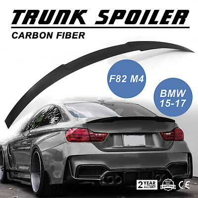 $109.98 • Buy New Black Real Carbon Fiber Trunk Spoiler for BMW M4 F82 Coupe 2015-2017 Suit
