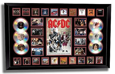 AU189.99 • Buy Acdc Brian Johnson Angus Young Signed Limited Edition Framed Memorabilia
