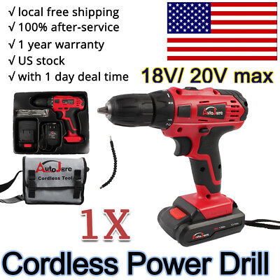 View Details Portable Cordless Drill Li-Ion Electric Driver Kit Tool Repair Set 18v 20v Max • 33.92$