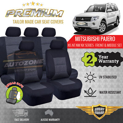 AU169 • Buy Premium Seat Covers For Mitsubishi Pajero NS NT NW NX 11/2006 - On 5 Seater