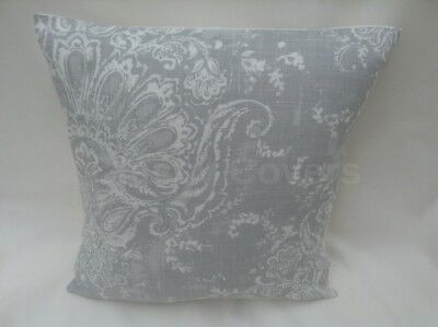 Lovely Laura Ashley Designer Cushion Cover MADDOX SILVER Fabric Various Sizes • 10.95£