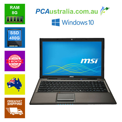 AU269 • Buy MSI CR61 2M 15.6  Notebook Laptop Intel Pentium,DVD , Webcam, Wi-Fi Win 10
