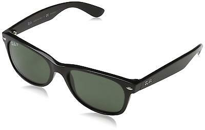 05e72d1fdd2 Ray-Ban RB2132 901 58 Wayfarer Black Frame Polarized Green 52mm Lens  Sunglasses •