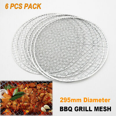 AU19.95 • Buy 6x BBQ Steel Grill Mesh Fish Meat Net Barbecue Camping Outdoor Mat Clamp 29.5cm