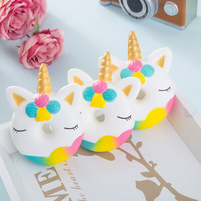 AU9.64 • Buy Cute Unicorn Doughnut Scented Slow Scented Rising Stress Reliever Squeeze Toys