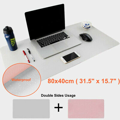 £13.19 • Buy Waterproof Anti-slip Leather Blotters Pad Protector Desk Mouse Pads Mats Pink