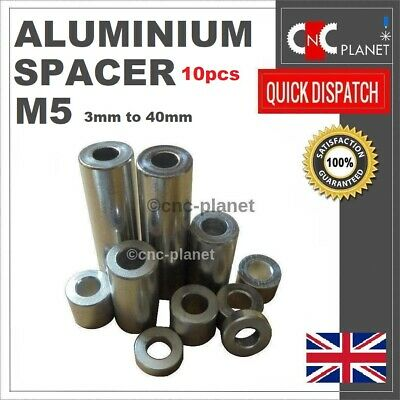 £6.99 • Buy M5 Aluminium Standoff Spacer V-slot OX CNC Anodized ID 5.1 X OD 10mm PACK OF 10