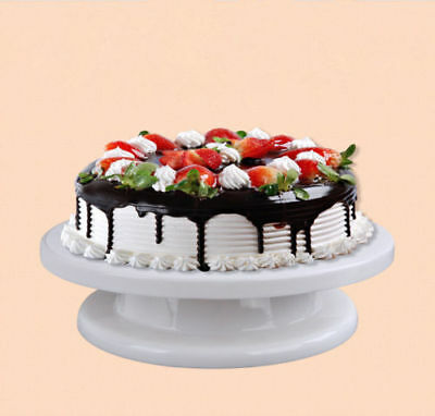 Kitchen Cake Stand Decorating Icing Rotating Revolving Turntable Display  28CM • 6.95£