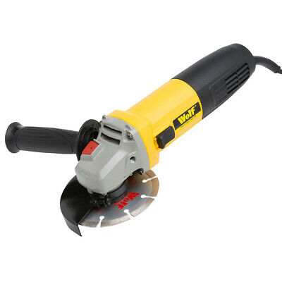 Wolf 850w Angle Grinder With 115mm (4.5 ) Diamond Tip Cutting Grinding Disc 240v • 37.99£