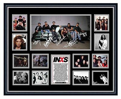 AU94.99 • Buy Inxs Michael Hutchence Farriss Signed Limited Edition Framed Memorabilia