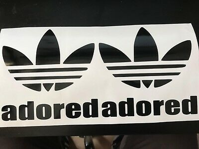 Adidas Stickers Adored I Wanna Be Trefoil X2 The Stone Roses Ian Brown Oasis  • 2.75£