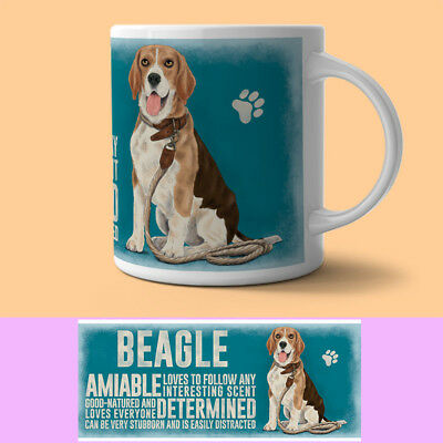 Beagle Mug Descriptive Dog Gift/Present • 9.95£
