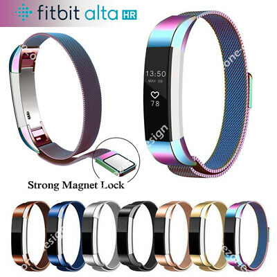 AU12.49 • Buy Stainless Steel Replacement Magnetic Spare Band Strap For Fitbit Alta / Alta HR