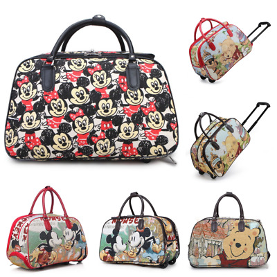 Minnie Mouse Trolley Holdall Bag Girls Mickey Mouse Hand Luggage Travel Handbag • 20.89£