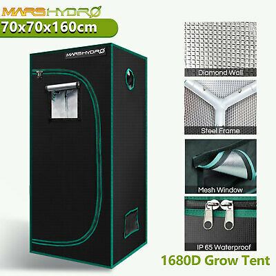 AU124.18 • Buy Mars Hydro 70x70x160cm Indoor Grow Tent 1680D 100% Reflective Light-proof Room