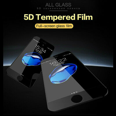 AU5.99 • Buy For IPhone 8 7 6/6S Plus Xs SE 2020 Full Cover Tempered Glass Screen Protector