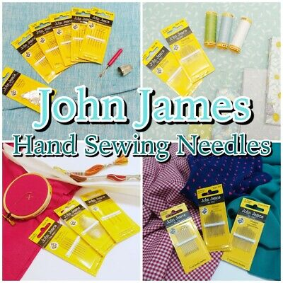 JOHN JAMES Quality HAND SEWING NEEDLES Quilting + Craft Needle Packs  • 2.15£