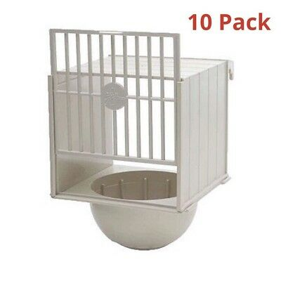 10 X Canary Nest Pans For Cage Fronts - Nesting Canaries, Aviary Birds • 27.50£