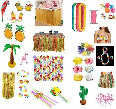Tropical Hawaiian Luau Garden Party BBQ Tiki Decorations Beach Pool Accessories • 1.69£