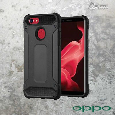 AU6.59 • Buy Black Armor Heavy Duty ShockProof Case Cover For OPPO A73 / Oppo R15 Pro