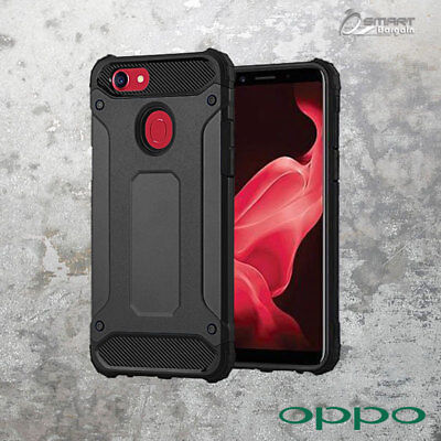 AU6.59 • Buy Black Tough Armor Heavy Duty ShockProof Case Cover For OPPO A73 / Oppo R15 Pro