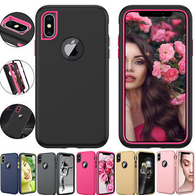 AU3.62 • Buy 3-in-1 Hybrid Shockproof Layer Hard Case Cover For IPhone X 7 8 6S Plus