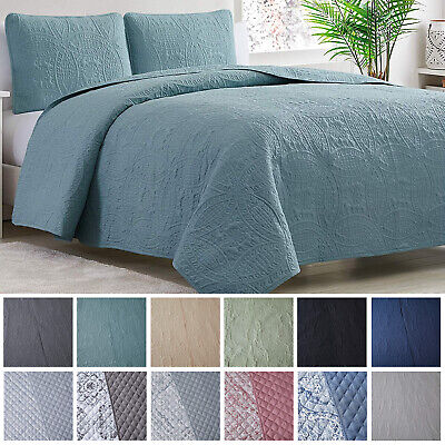 Mellanni Bedspread Coverlet Set 3-Piece Oversized Bed Cover, Ultrasonic Quilt • 33.99£