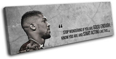 Boxing Anthony Joshua Quote Sports SINGLE CANVAS WALL ART Picture Print • 29.99£