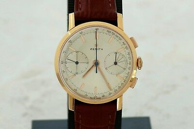 $2475 • Buy Vintage ZENITH 18k Gold Chronograph Mechanical Cal. 146 D  Men's Watch