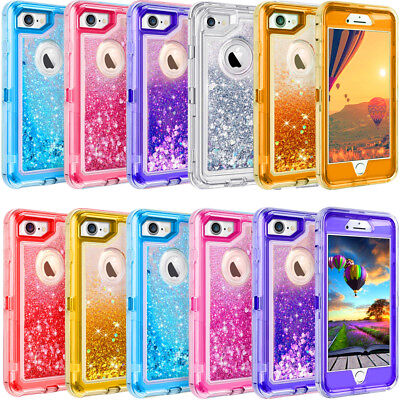 AU18.51 • Buy For IPhone 6 7 8 Plus Xs XR 11 Pro Max Glitter Defender Case Clip Fits Otterbox