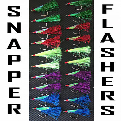 AU16.95 • Buy 20X Snapper Snatchers Flashers Circle Hooks Fishing Rigs Striker 3/0 4/0 5/0 6/0