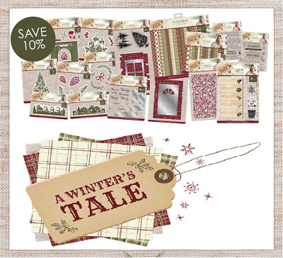 Sara Signature A WINTERS TALE Dies Accessories & Paper By Crafters Companion • 3.95£