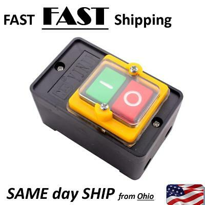 $22 • Buy Small Shop Machine Equipment ON - OFF Switch With Box Industrial Push Button