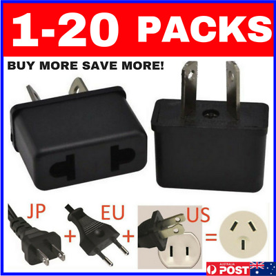 AU3.95 • Buy 1-20 BUNDLES USA EU ASIA To AU AUS AUST AUSTRALIAN POWER PLUGs TRAVEL ADAPTER