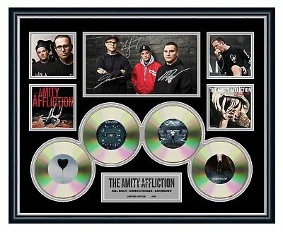 AU94.99 • Buy The Amity Affliction 2018 Misery Signed Limited Edition Framed Memorabilia