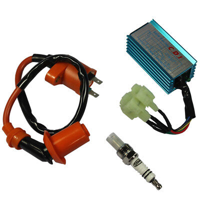 $40.96 • Buy Racing Ignition Coil Spark Plug Cdi For Gy6 Scooter Go Kart 150cc 125cc 50cc ATV
