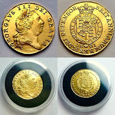 £5000 • Buy Rare Uncirculated 1801 George III 22ct Gold Half Guinea In Investment Condition