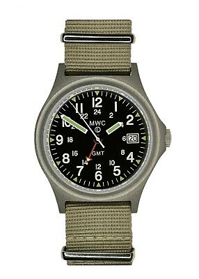 $ CDN229.18 • Buy MWC GMT 100m | Quartz Military Watch | Screw Down Crown & Case Back | Date