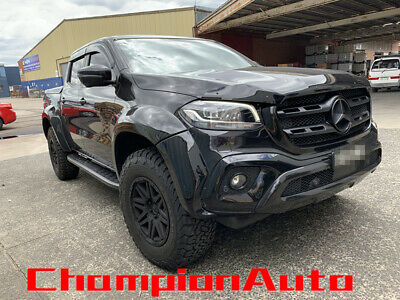 AU379.05 • Buy To Fit 2018+ Mercedes Benz X Class Double Cab Side Steps Running Boards (Shark)