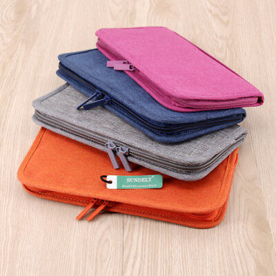 AU17.99 • Buy Travel Wallet Passport Holder RFID Organiser Pouch For Cards Documents Money IDs