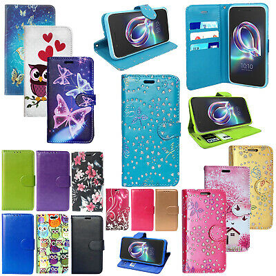 Alcatel 3V 3C 1X 1C 2019 A3 XL Genuine PU Leather Flip Wallet Stand Case Cover • 4.99£