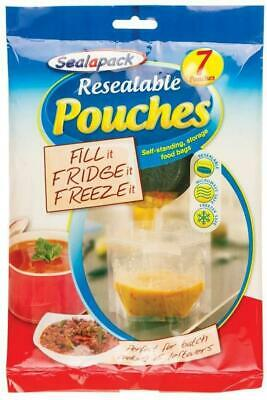 Resealable Food Bag Fridge Freezer Stand Up Soup Liquid Batch Cook Storage Pouch • 3.49£