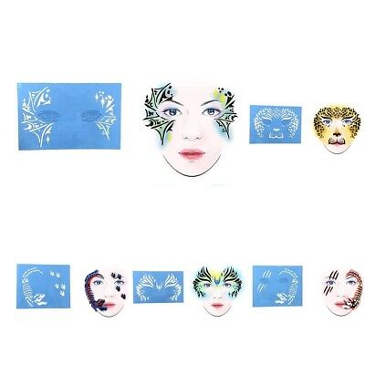 £2.58 • Buy Reusable Face Paint & Airbrush Tattoo Stencils Body Painting Makeup Template