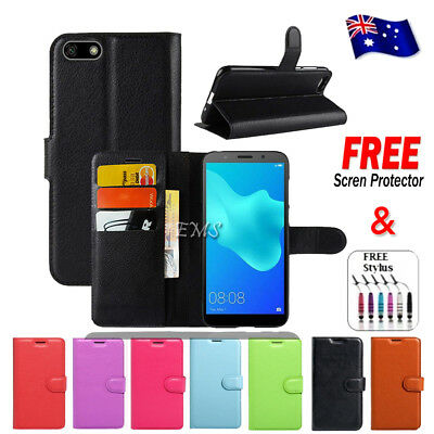 AU6.44 • Buy Wallet Leather Card Holder Pocket Flip Shockproof Case Cover For Huawei Y5 2018