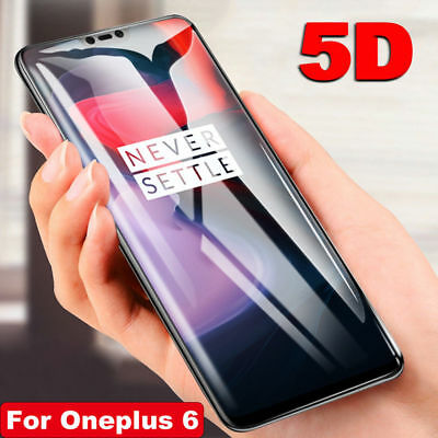 AU6.49 • Buy 5D Curved Full Coverage Tempered Glass Screen Protector Film For OnePlus 6 5