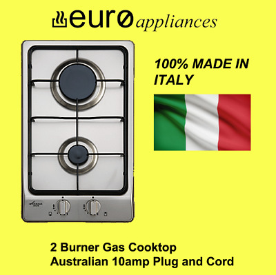 AU299.99 • Buy Euro EPZ2GFFDSS 30cm Stainless Steel GAS COOKTOP WITH RAPID HEAT BURNER
