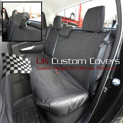 Fits Nissan Navara Np300 Double Cab 2016+ Rear Seat Covers Black 243 • 54.95£