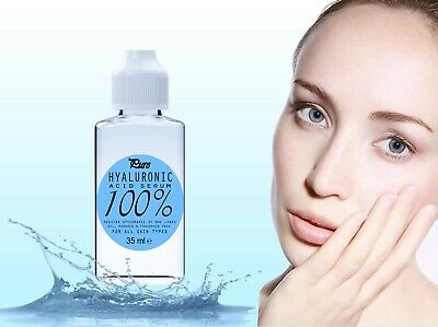 100% Pure HYALURONIC Acid Serum 35ml Buy2 Get3 Introductory Price UK Made • 4.99£